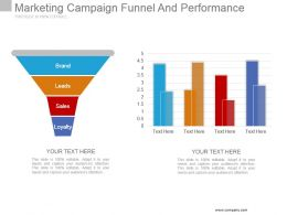 Marketing Campaign Funnel And Performance Powerpoint Ideas