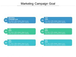 Marketing Campaign Goal Ppt Powerpoint Presentation Guidelines Cpb