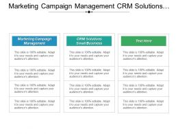 Marketing Campaign Management Crm Solutions Small Businesses Popular Crm Cpb