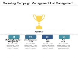 Marketing Campaign Management List Management Tools Task Management Cpb