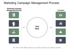 Marketing Campaign Management Process Ppt Powerpoint Presentation File Samples Cpb