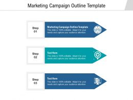 Marketing Campaign Outline Template Ppt Powerpoint Presentation Outline Microsoft Cpb