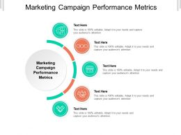 Marketing Campaign Performance Metrics Ppt Powerpoint Presentation Inspiration Icon Cpb
