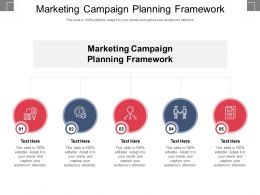 Marketing Campaign Planning Framework Ppt Powerpoint Presentation Infographic Template Microsoft Cpb