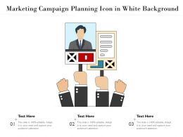 Marketing Campaign Planning Icon In White Background