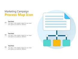 Marketing Campaign Process Map Icon