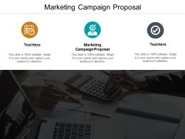 Marketing Campaign Proposal Ppt Powerpoint Presentation Portfolio Show Cpb