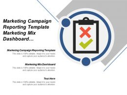Marketing Campaign Reporting Template Marketing Mix Dashboard Display Remarketing Cpb