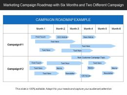 Marketing Campaign Roadmap With Six Months And Two Different Campaign