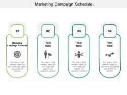 Marketing Campaign Schedule Ppt Powerpoint Presentation Inspiration Cpb