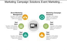 Marketing Campaign Solutions Event Marketing Management Event Planning Marketing Cpb
