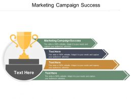 Marketing Campaign Success Ppt Powerpoint Presentation Gallery Smartart Cpb