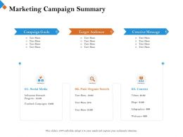 Marketing Campaign Summary Content M2450 Ppt Powerpoint Presentation Icon Outfit