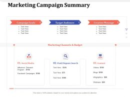 Marketing Campaign Summary Videos Ppt Powerpoint Presentation Portfolio Layout Ideas