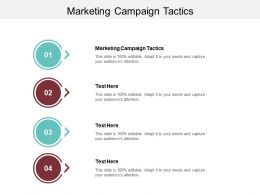 Marketing Campaign Tactics Ppt Powerpoint Presentation Ideas Graphics Template Cpb