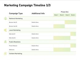 Marketing Campaign Timeline Local Marketing Ppt Powerpoint Presentation Templates