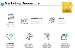 Marketing Campaigns Advertising Referrals Ppt Powerpoint Presentation Slides Styles