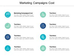 Marketing Campaigns Cost Ppt Powerpoint Presentation Summary Smartart Cpb