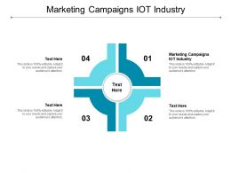 Marketing Campaigns IOT Industry Ppt Powerpoint Presentation Show Grid Cpb