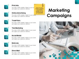 Marketing Campaigns Online Advertising Ppt Powerpoint Presentation File Files