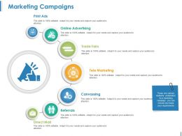 Marketing Campaigns Ppt Sample