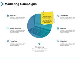 Marketing Campaigns Trade Fairs Ppt Powerpoint Presentation Icon Guidelines