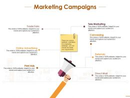 Marketing Campaigns With Social Planning Ppt Infographic Template Files
