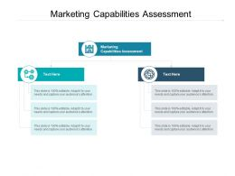 Marketing Capabilities Assessment Ppt Powerpoint Presentation Ideas Cpb