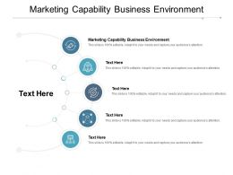Marketing Capability Business Environment Ppt Powerpoint Presentation Ideas Templates Cpb