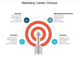 Marketing Career Choices Ppt Powerpoint Presentation Outline Format Cpb