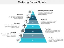 Marketing Career Growth Ppt Powerpoint Presentation Styles Infographics Cpb