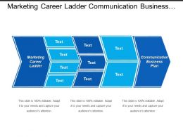 Marketing Career Ladder Communication Business Plan Corporate Values Cpb