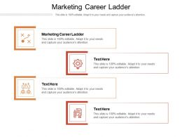 Marketing Career Ladder Ppt Powerpoint Presentation Styles Visuals Cpb
