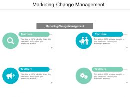 Marketing Change Management Ppt Powerpoint Presentation Slides Objects Cpb