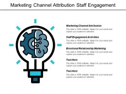 Marketing Channel Attribution Staff Engagement Activities Emotional Relationship Marketing Cpb