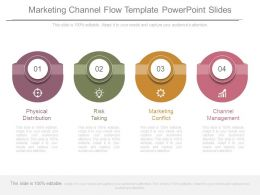 Marketing Channel Flow Template Powerpoint Slides