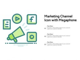 Marketing Channel Icon With Megaphone