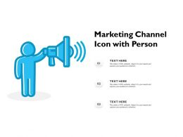 Marketing Channel Icon With Person