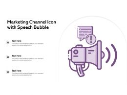 Marketing Channel Icon With Speech Bubble