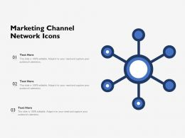 Marketing Channel Network Icons