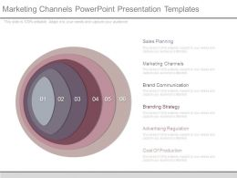 Marketing Channels Powerpoint Presentation Templates
