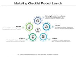 Marketing Checklist Product Launch Ppt Powerpoint Presentation Model Background Cpb