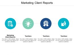 Marketing Client Reports Ppt Powerpoint Presentation Infographics Outline Cpb