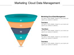 Marketing Cloud Data Management Ppt Powerpoint Presentation Summary Background Cpb
