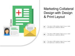Marketing Collateral Design With Design And Print Layout