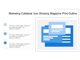 Marketing Collateral Icon Showing Magazine Print Outline