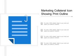 Marketing Collateral Icon Showing Print Outline