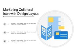 Marketing Collateral Icon With Design Layout