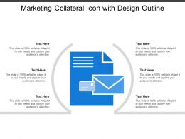 Marketing Collateral Icon With Design Outline