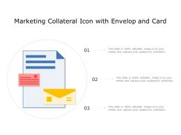 Marketing Collateral Icon With Envelop And Card